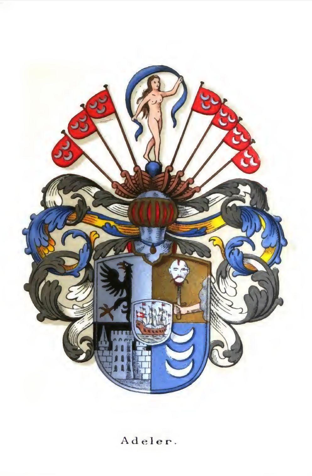 Utformet av Anders Thiset for Danmarks Adels Årbok 1904